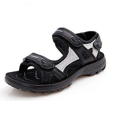 Sandaler-Læder-Åben tå / Sandaler-Drenge-Sort / Hvid-Hverdag-Platå