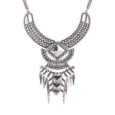 Feminino Colares com Pendentes Colares Declaração Gema Prata Chapeada imitação de diamante LigaModa Personalizado Jóias da indicação