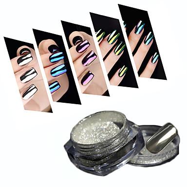 1pcs Akrylpulver Nail Glitter Pudder Speil Effekt Nail Art Design