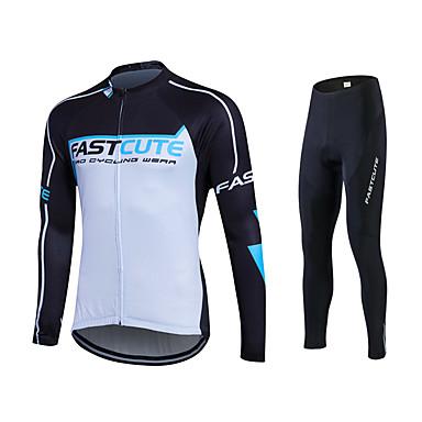 Fastcute Calça com Camisa para Ciclismo Homens Mulheres Unisexo Manga Longa Moto Moletom Camisa/Roupas Para Esporte Meia-calça Blusas