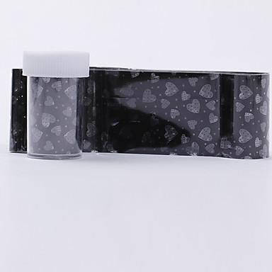 1pcs 3D Negle Stickers Negle Smykker Negle kunst Manicure Pedicure Blomst / Mode Daglig / PVC / Negle smykker / 3D Nail Stickers