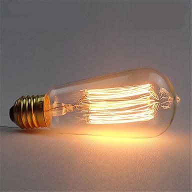 1pc 40 W E26 / E27 ST58 Varm hvid 2300 k Kontor / Business / Dæmpbar / Dekorativ Glødende Vintage Edison lyspære 220-240 V