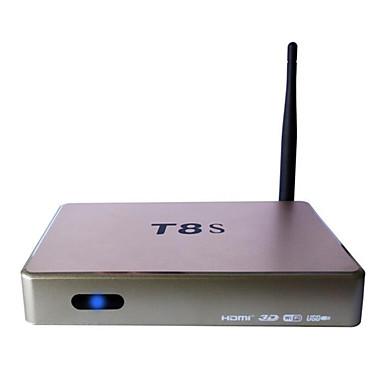ott t8s android 4.4 Smart TV box hd 3d 1g ram 8g rom quad core wifi guld