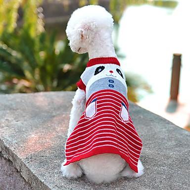 katten honden Truien Hondenkleding Winter Lente/Herfst Cartoon Schattig Casual/Dagelijks Grijs Rood Blauw Roze
