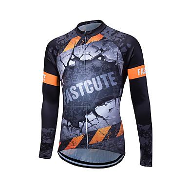 Fastcute Herrn Langarm Fahrradtrikot Fahhrad Trikot / Radtrikot, Atmungsaktiv, Schweißableitend Coolmax® / Lycra