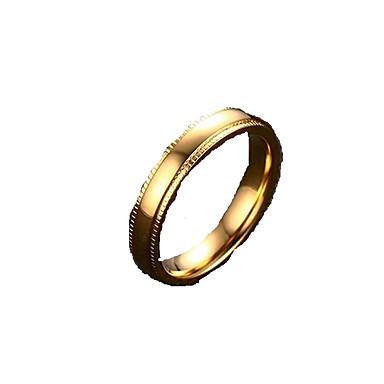 Anéis Grossos Maxi anel Aço Inoxidável Chapeado Dourado 18K ouro Jóias Moda Dourado Jóias Diário Casual 1peça