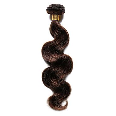 billige Fargede hairextensions-Indisk hår Krop Bølge 8A Ekte hår Fargede Hår Bølget Hårvever med menneskehår Hairextensions med menneskehår