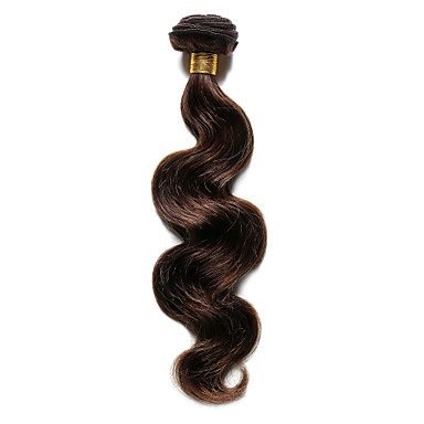 baratos Extensões de Cabelo Natural-Cabelo Indiano Onda de Corpo 8A Cabelo Humano Precolored Tece cabelo Tramas de cabelo humano Extensões de cabelo humano