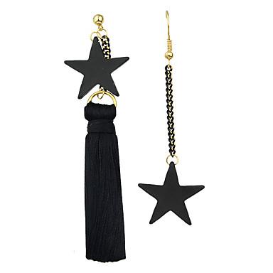 Mujer Borla Pendientes colgantes / Pendients de aro - Estrella Borla, Bohemio, Gótico Negro Para Fiesta / Diario / Casual