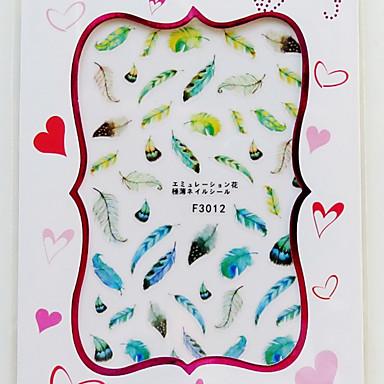 1 pcs Calcomanías de Uñas 3D arte de uñas Manicura pedicura Moda Diario / Pegatinas de uñas 3D