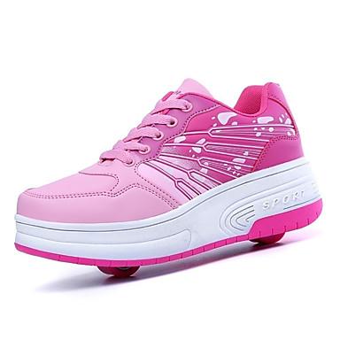 Sneakers-Læder-Rulleskøjtesko-Unisex-Blå Rosa-Udendørs Sport-Lav hæl