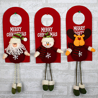 design er tilfældigt juletræ dekoration ornamenter xmas hjem dør dekoration santa claus snemand rensdyr