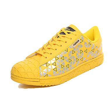 Sneakers-PU-Originale-Herre-Sort Blå Rød Sølv Guld Sort og Hvid-Fritid-Flad hæl