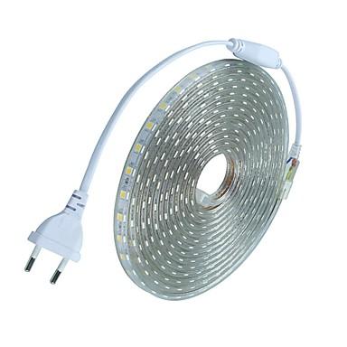 זול תאורה דקורטיבית-10מ' סרטי תאורת LED גמישים 600 נוריות 5050 SMD לבן חם / לבן / אדום עמיד במים / ניתן לחיתוך / חג 220-240 V