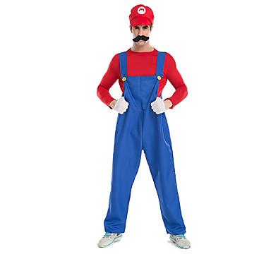 Superhelter Cosplay Kostumer Party-kostyme Herre Halloween Festival / høytid Halloween-kostymer Blå+Rød Ensfarget