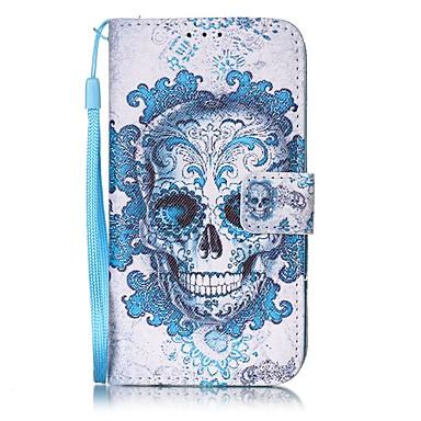Para iPhone 8 iPhone 8 Plus Case Tampa Carteira Porta-Cartão Corpo Inteiro Capinha Caveiras Rígida Couro Ecológico para Apple iPhone 8