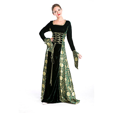 Cosplay Cosplay Kostüme Party Kostüme Damen Halloween Fest / Feiertage Halloween Kostüme Grün/schwarz Druck