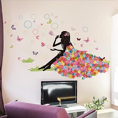 Autocolante de Perete Decorative - Persoane de perete pentru autocolante Desene Animate Sufragerie / Dormitor / Cameră de Fete