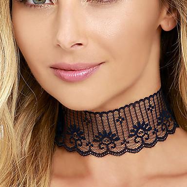 Damen Halsketten - Spitze Personalisiert, Retro, Simple Style Schwarz Modische Halsketten Für Hochzeit, Party, Alltag