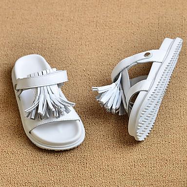 Para Meninos sapatos Couro Verão Outono Rasos Caminhada Para Branco Preto