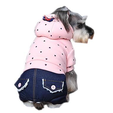 Hund Kapuzenshirts Overall Hundekleidung Punkt Purpur Grün Rosa Polar-Fleece Baumwolle Kostüm Für Haustiere Herrn Damen Lässig/Alltäglich