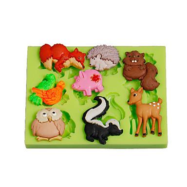 Herramientas para hornear Silicona Ecológica / Manualidades Pastel / Tarta / Chocolate Animal Molde para hornear 1pc