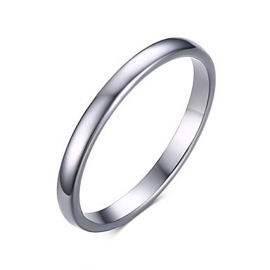 Homens Anel de banda - Aço Inoxidável, Aço tungstênio Fashion 6 / 7 / 8 Branco Para Casamento / Festa / Diário
