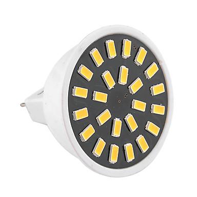 GU5.3(MR16) LED-spotpærer MR16 24 leds SMD 5733 Dekorativ Varm hvit Kjølig hvit 400-500lm 2800-3200/6000-6500K AC 220-240 AC 110-130V
