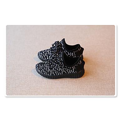 Unisex Baby Schoenen Tule Lente Herfst Sneakers Gestrikt lint voor Sportief Zwart Paars Roze
