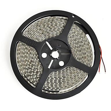 KWB 5 m Fleksible LED-lysstriper 600 LED 3528 SMD Varm hvit / Hvit / Rød Kuttbar / Koblingsbar / Selvklebende 12 V / IP44