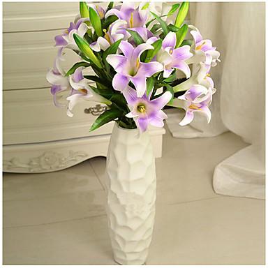 1 Tak Polyester Kunststof Lelies Pioenen Bloemen voor op de grond Kunstbloemen