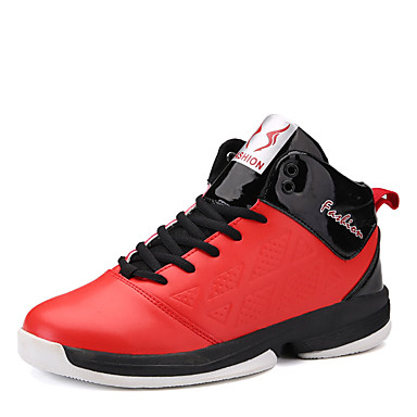 Herrn Schuhe PU Frühling Herbst Komfort Sneakers Basketball Schnürsenkel für Sportlich Weiß Rot Blau