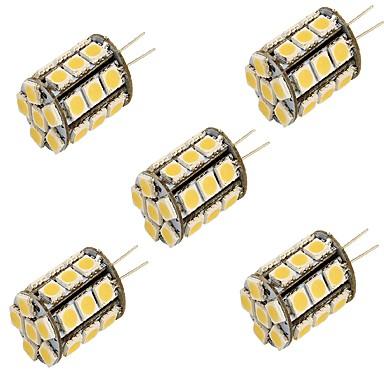 YouOKLight 5pcs 3000/6000lm G4 LED-lamper med G-sokkel T 27 LED Perler SMD 5050 Dekorativ Varm hvid Kold hvid 12V