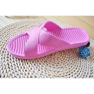 Dames Schoenen PVC Zomer Herfst Comfortabel Slippers & Flip-Flops Platte hak voor Causaal Donkerblauw Roze Lichtblauw
