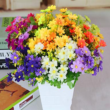 1 1 Tak Polyester Madeliefjes Bloemen voor op tafel Kunstbloemen 35cm