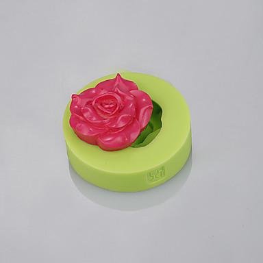 moldes de silicone de fondant de forma de peônia para decoração de bolo de ferramentas de chocolate de fondant cor ramdon