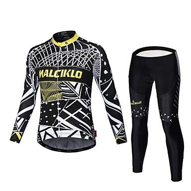 Malciklo Calça com Camisa para Ciclismo Homens Manga Longa Moto Camisa/Roupas Para Esporte Tights Bib Conjuntos de Roupas Secagem Rápida