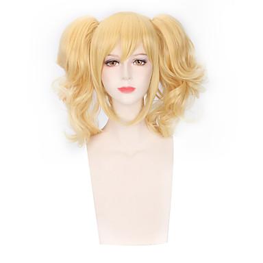 Synthetische Perücken Locken Blond Synthetische Haare Blond Perücke Damen Kappenlos