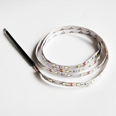 zdm® 1 adet soğuk beyaz dc powered cuttable dc 12v şerit ışık