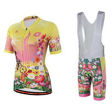 Miloto Fahrradtrikot mit Trägerhosen Damen Kurzarm Fahhrad Bib - Shorts/Kurze radhose MIT Trägern Sweatshirt Trikot/Radtrikot