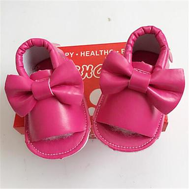Baby Unisex Schoenen Leer Herfst Comfortabel Sneakers Veters voor Causaal Zilver Rood Blauw Roze