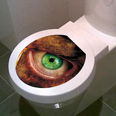1pc kreative personlighed boligindretningsprodukter 3d toilet klistermærker