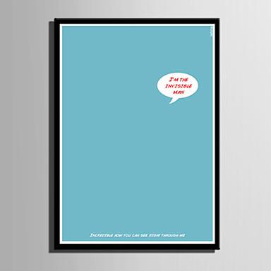 Sanat ja lainaukset Kehystetty kanvaasi / Kehystetty setti Wall Art,PVC Maalattu Ei taustalevyä Frame Wall Art
