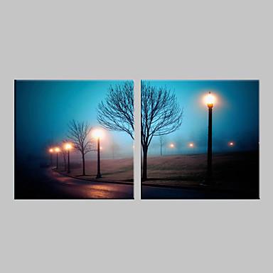 Картины с LED подсветкой Пейзаж 2 панели Квадратный С картинкой Декор стены Украшение дома
