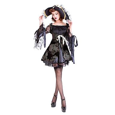 Cosplay Kostumer / Maskerade / Festkostume Pirat Festival/Højtider Halloween Kostumer Sort Blonde Kjole / Mere Tilbehør / Hat Halloween