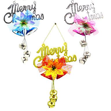 3pcs placa natal decoração rattan ornamentos sino charme árvore coroa de flores pingente de natal decoração suprimentos casa partido