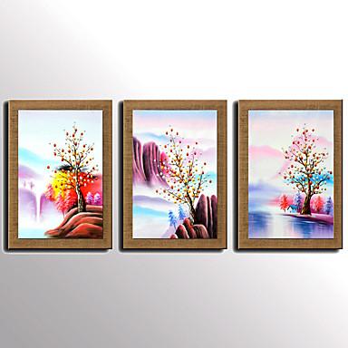 Hånd-malede Abstrakt Kendt Landskab Sille Liv Fantasi Blomstret/Botanisk Vertikal, Moderne Middelhavet Europæisk Stil Lærred Hang-Painted