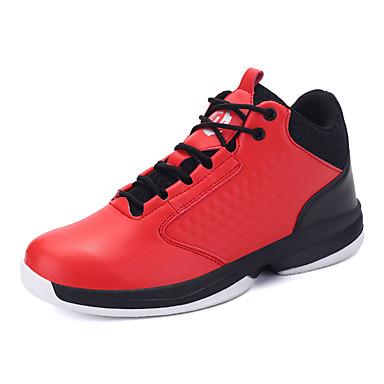 Heren Schoenen Kunstleer Herfst Comfortabel Sneakers Basketbal Veters voor ulko- Wit Zwart Rood
