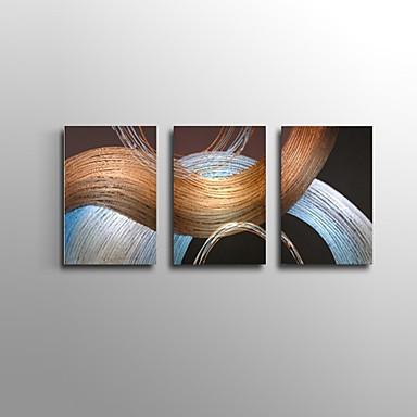 Handgeschilderde Abstract / Landschap / Stilleven / Fantasie Olie schilderijen,Modern / Klassiek / Europese Stijl Drie panelen Canvas