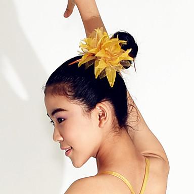 Apresentação Decoração de Cabelo Mulheres Espetáculo Poliéster Penas Penas / Pêlo Flor Decoração de Cabelo